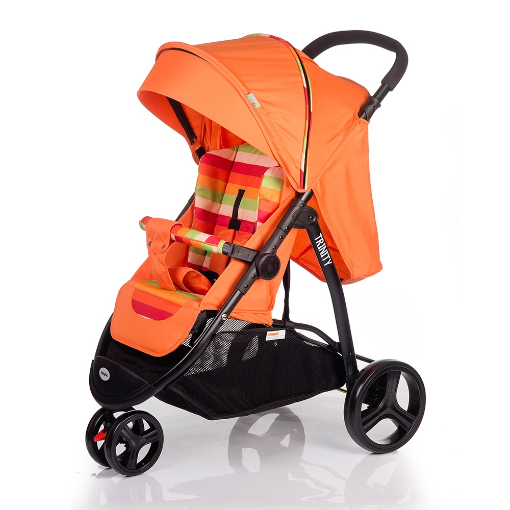Коляска прогулочная Babyhit TRINITY оранжевый прогулочная коляска babyhit trinity orange strips