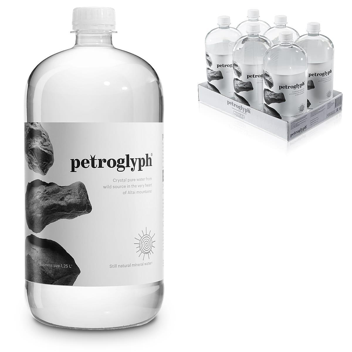 Вода Petroglyph природная минеральная негазированная, 6 шт по 1,25 л ПЭТ