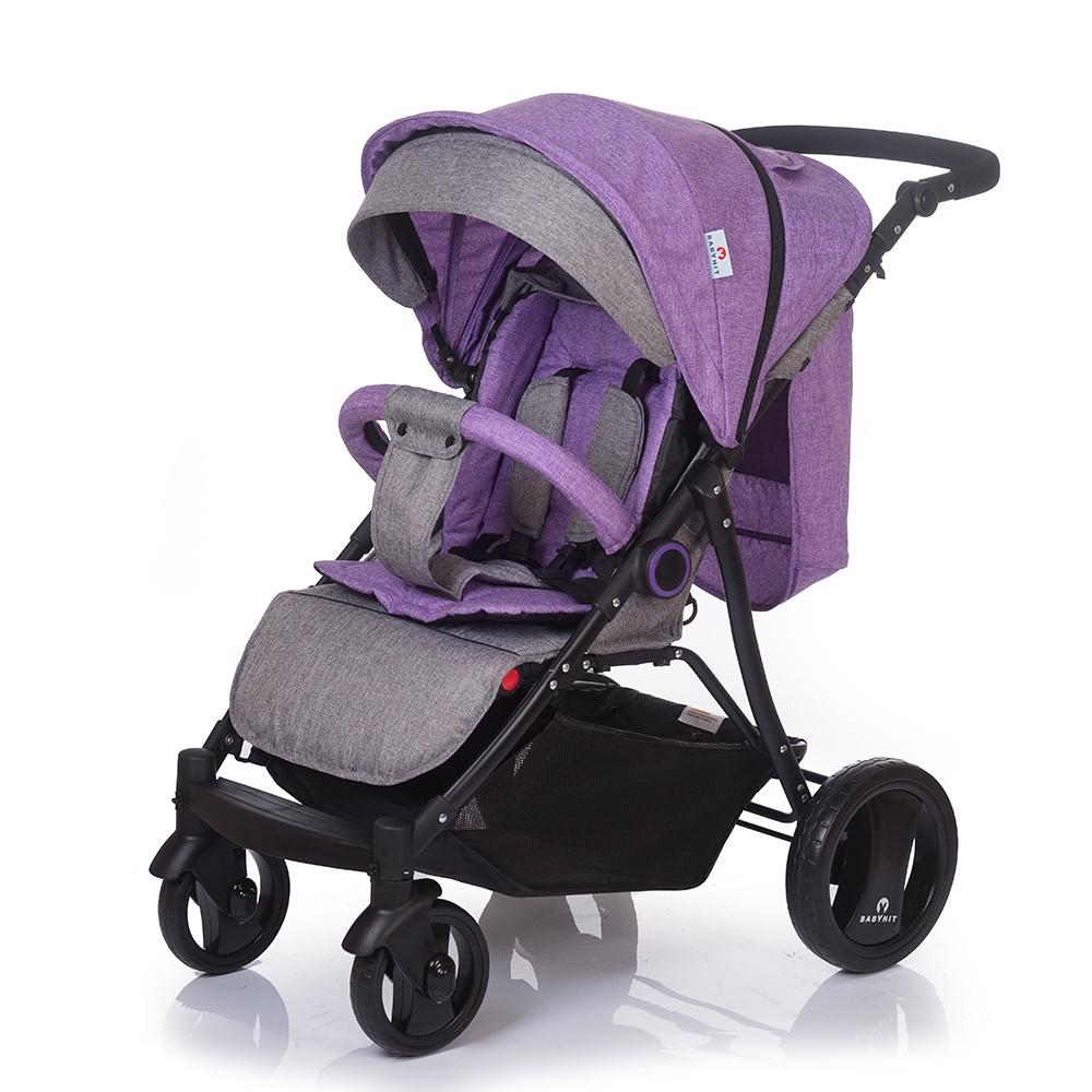 Коляска прогулочная Babyhit PARKWAY фиолетовый, серый