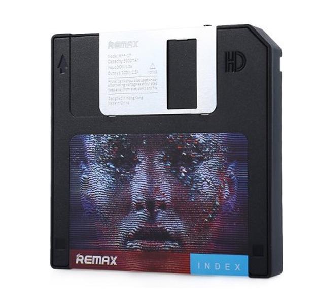 Внешний аккумулятор Remax Power Bank Disk 5000 mAh, черный remax аккумулятор remax disk 5000 мач голубой портативный