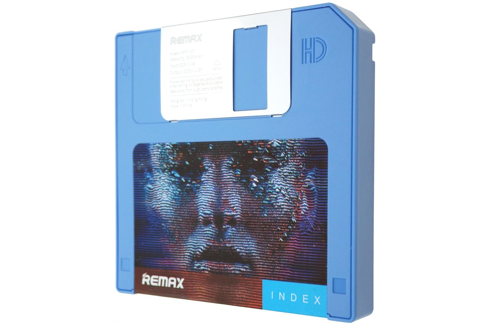 Внешний аккумулятор Remax Power Bank Disk 5000 mAh, синий remax аккумулятор remax disk 5000 мач голубой портативный