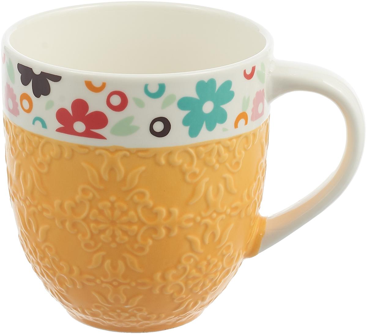Кружка Liling Quanhu Гламур, LQGB140-LE0098_3, оранжевый, 590 мл кружка liling quanhu букет дизайн 1 380 мл