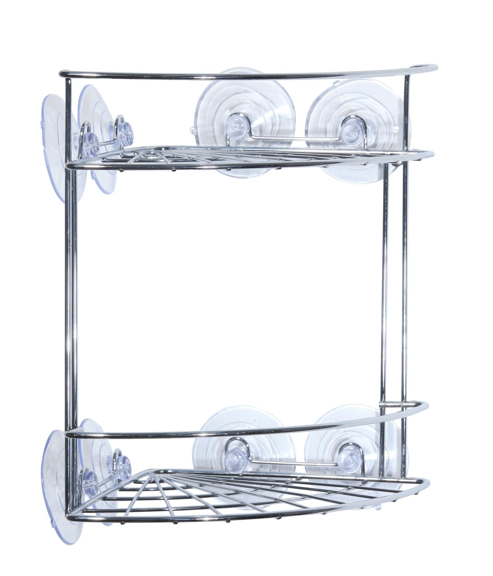 Полка для ванной комнаты Vanstore Neo, серебристый мыльница fresh code море ракушка на присоске цвет серебристый 14 х 9 5 х 2 см