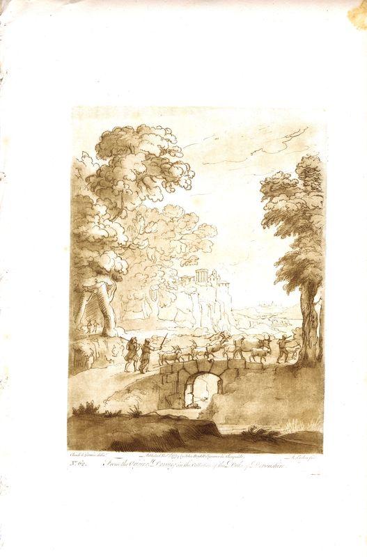 Гравюра Ричард Ирлом Лист 62. Пастухи и стадо коз. Офорт, меццо-тинто. Англия, Лондон, доска 1774 (оттиск 1809) год донингтон парк резиденция графа мойры лестершир donington park seat of the earl of moira leicestershire гравюра офорт великобритания 1809 год