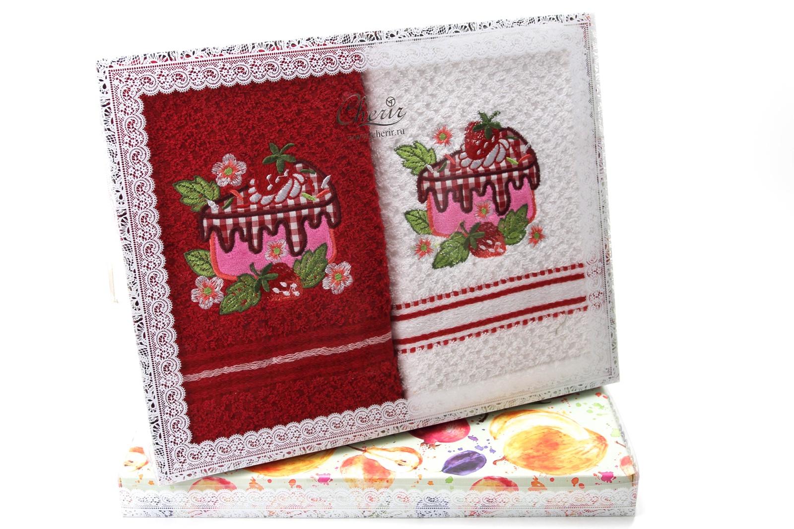 Набор кухонных полотенец Cherir 4293009, Хлопок набор кухонных полотенец cherir груша 45 70 см 2 предмета