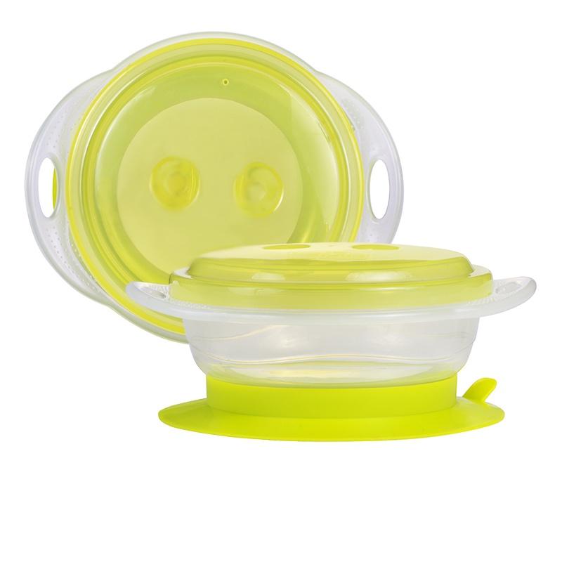 Детская тарелочка 250 мл на присоске и с крышкой 1 шт. 6+ посуда сказка тарелка с крышкой на присоске