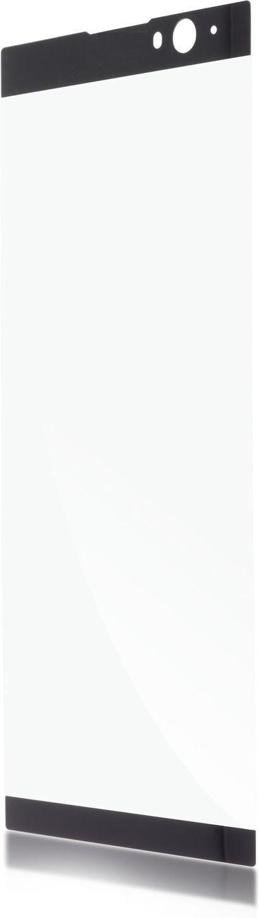 Защитное стекло Brosco 3D для Sony Xperia XA2 Plus, черный защитное стекло для sony i4213 xperia 10 plus brosco 3d на весь экран с черной рамкой