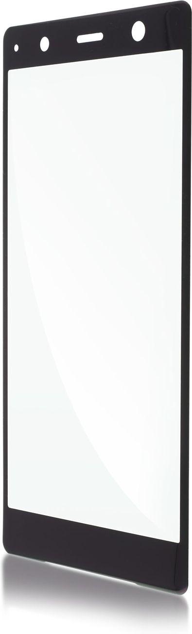 Защитное стекло Brosco 3D для Sony Xperia XZ2 Premium, черный защитное стекло для sony g3112 xperia xa1 brosco 3d на весь экран с розовой рамкой