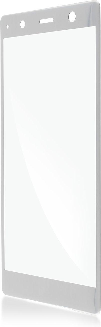 Защитное стекло Brosco 3D для Sony Xperia XZ2 Premium, серебристый защитное стекло для sony i4213 xperia 10 plus brosco 3d на весь экран с черной рамкой