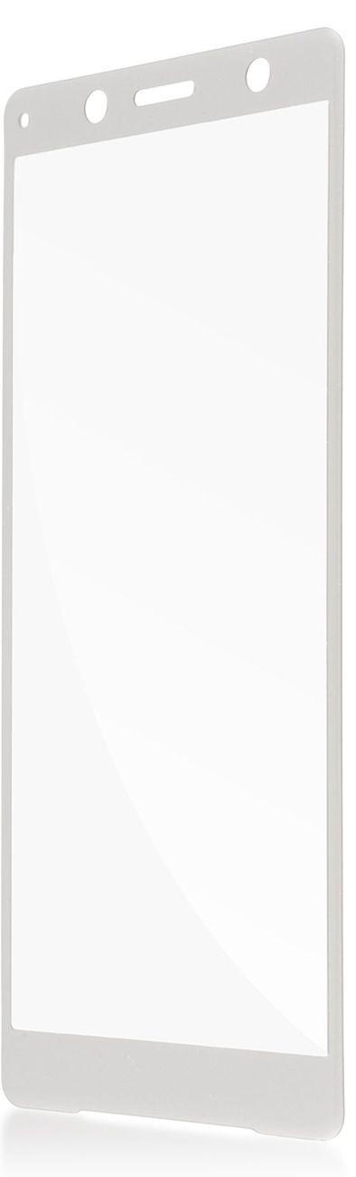 Защитное стекло Brosco 3D для Sony Xperia XZ2 Compact, серебристый wierss розовый для sony xz2