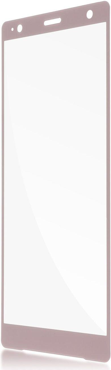 Защитное стекло Brosco 3D для Sony Xperia XZ2, розовый wierss розовый для sony xz2