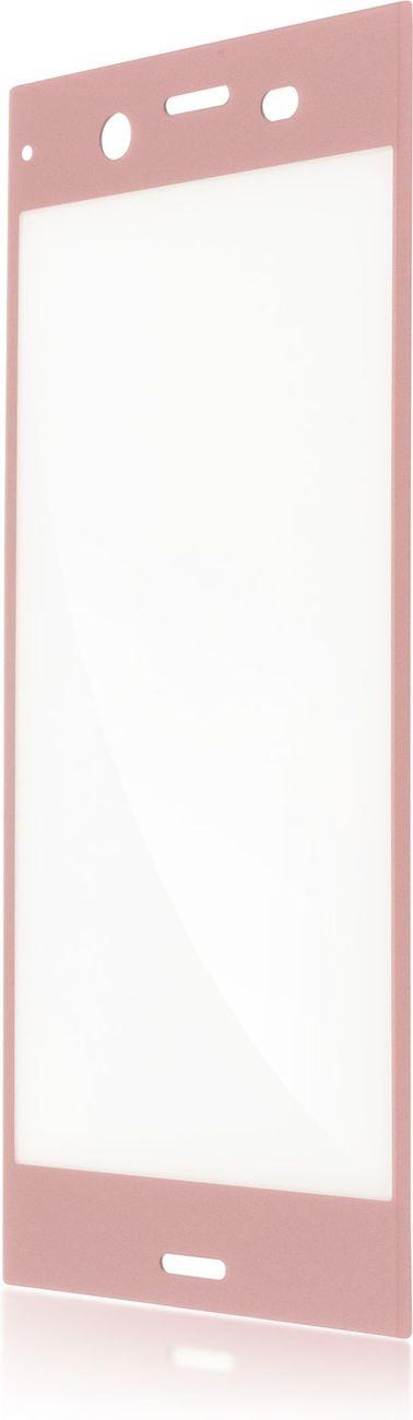 Защитное стекло Brosco 3D полноприклеивающееся для Sony Xperia XZ1, розовый wierss розовый для sony xz2