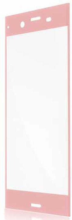 Защитное стекло Brosco 3D полноприклеивающееся для Sony Xperia XZ1 Compact, розовый
