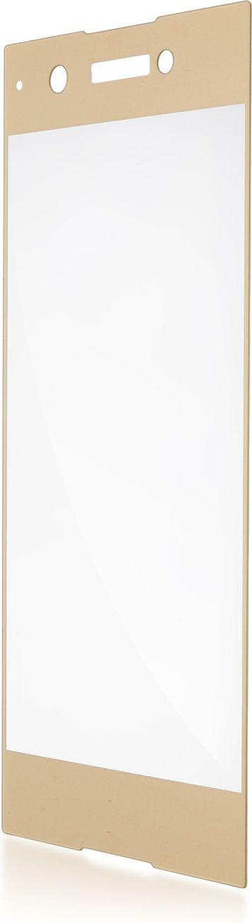 Защитное стекло Brosco 3D полноприклеивающееся для Sony Xperia XA1, золотой защитное стекло для sony g3112 xperia xa1 brosco 3d на весь экран с золотистой рамкой