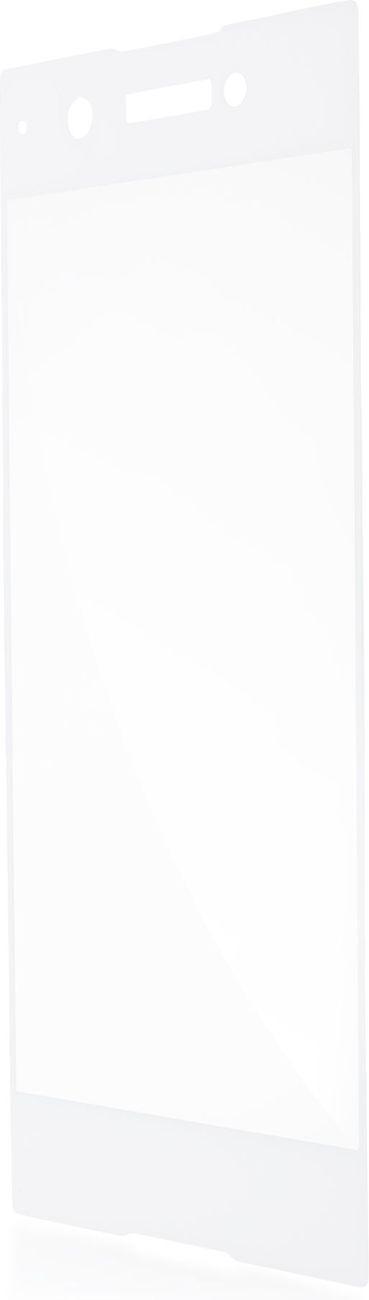 Защитное стекло Brosco 3D полноприклеивающееся для Sony Xperia XA1, белый защитное стекло для sony g3112 xperia xa1 brosco 3d на весь экран с золотистой рамкой