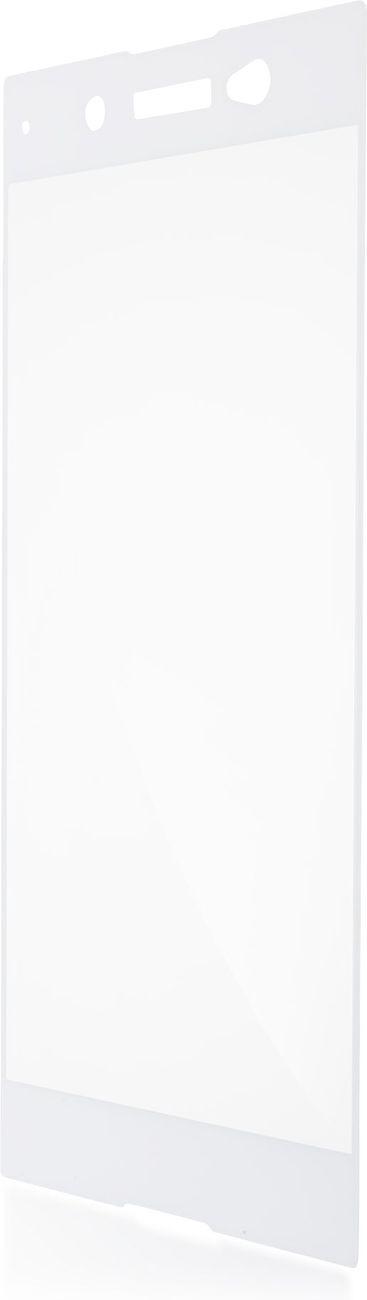 Защитное стекло Brosco 3D полноприклеивающееся для Sony Xperia XA1 Ultra, белый защитное стекло для sony g3112 xperia xa1 brosco 3d на весь экран с золотистой рамкой