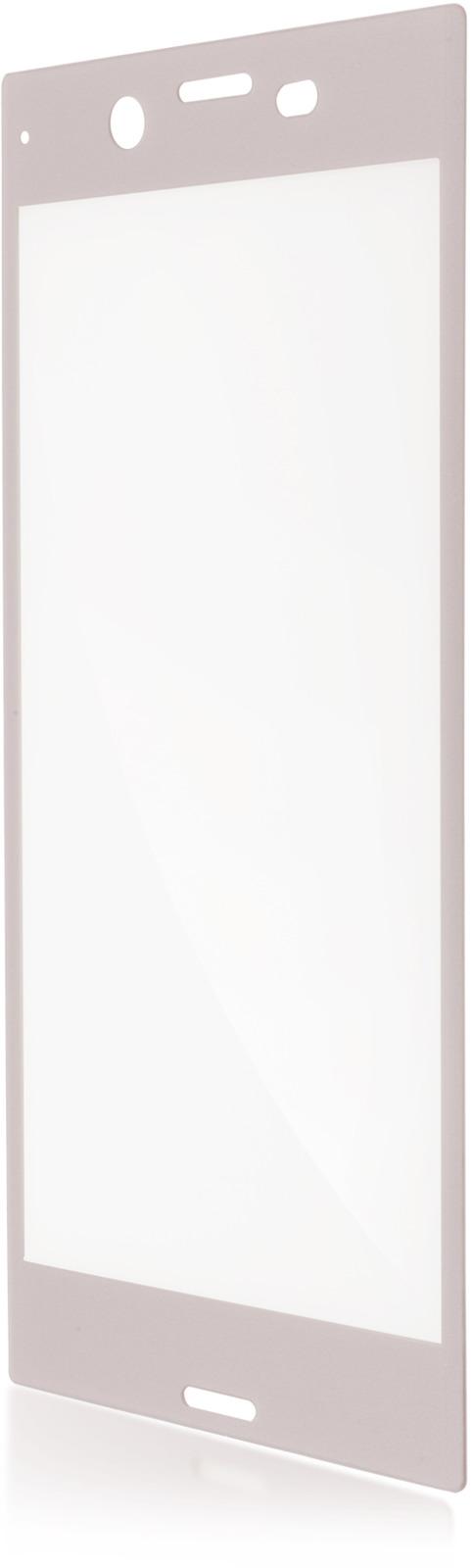 Защитное стекло Brosco 3D для Sony Xperia XZ2, серебристый wierss розовый для sony xz2