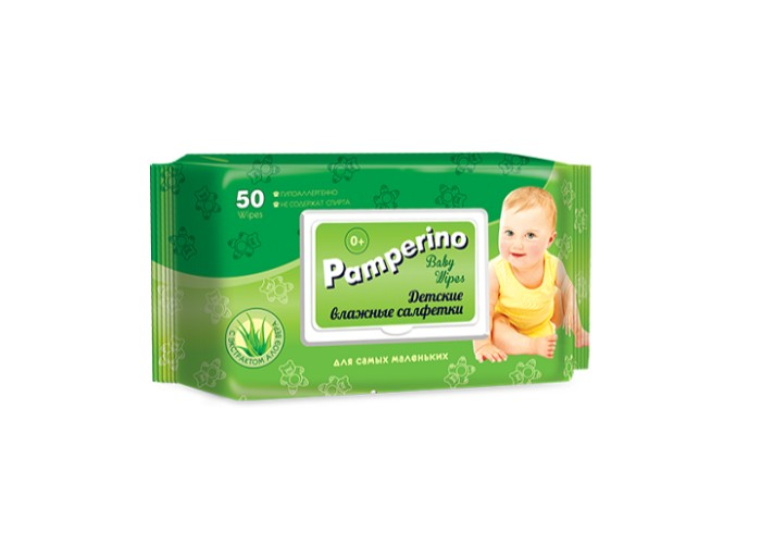 Влажные салфетки PAMPERINO 15307 влажные салфетки pamperino 80 детские без отдушки pamperino