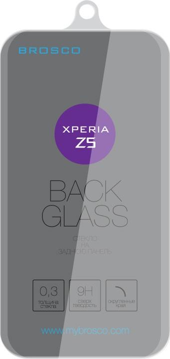 Защитное стекло Brosco для Sony Xperia Z5, прозрачный