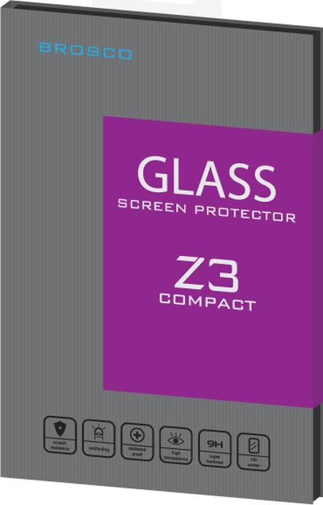 Защитное стекло Brosco для Sony Xperia Z3 Compact, прозрачный аксессуар защитное стекло для sony xperia z3 compact onext 40912