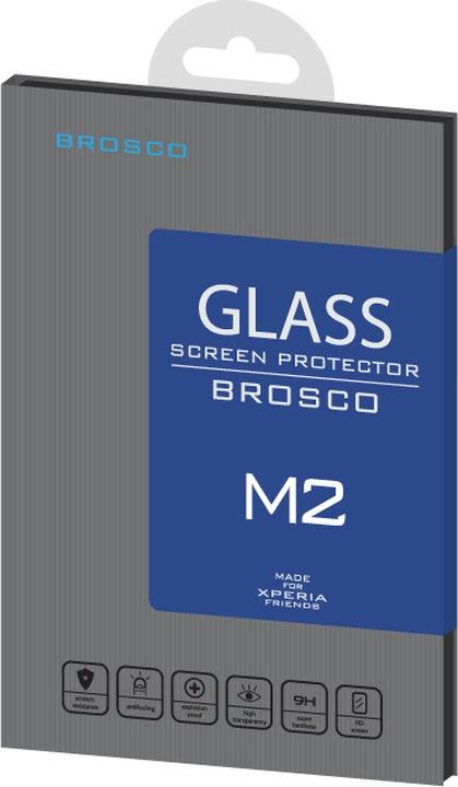 Защитное стекло Brosco для Sony Xperia M2, прозрачный