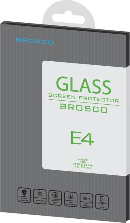 Защитное стекло Brosco для Sony Xperia E4, прозрачный