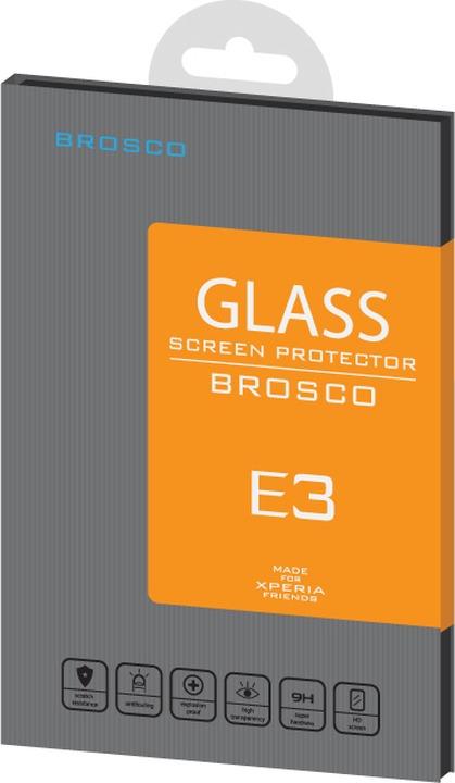 Защитное стекло Brosco для Sony Xperia E3, прозрачный 4 5 lcd for sony xperia e3 d2203 d2206 d2243 d2202 lcd display touch screen digitizer assembly free tools