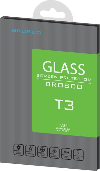 Защитное стекло Brosco для Sony Xperia T3, прозрачный