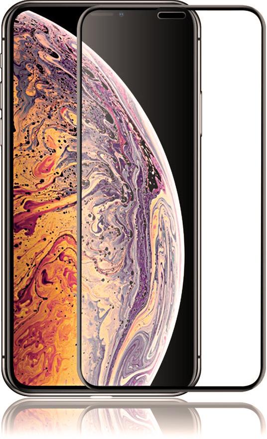 Защитное стекло Brosco 3D для Apple iPhone XS Max, черный защитное стекло для iphone xs brosco 3d изогнутое по форме дисплея с черной рамкой