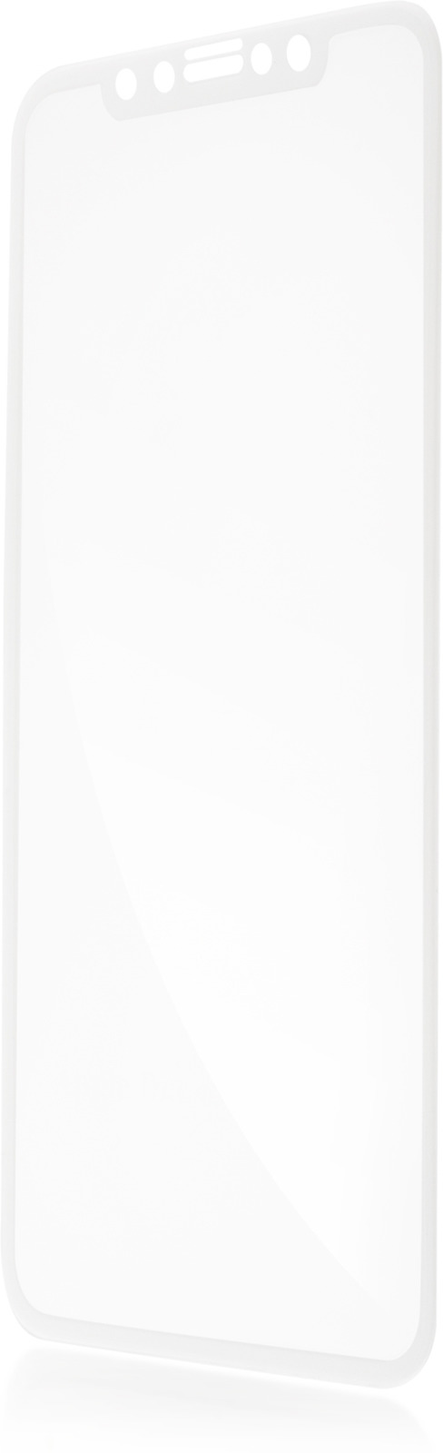 Защитное стекло Brosco 3D для Apple iPhone X, белый цена и фото