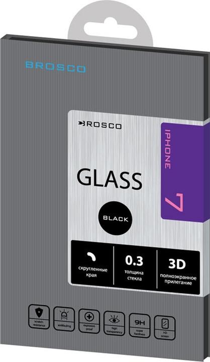 Защитное стекло Brosco 3D для Apple iPhone 7, черный