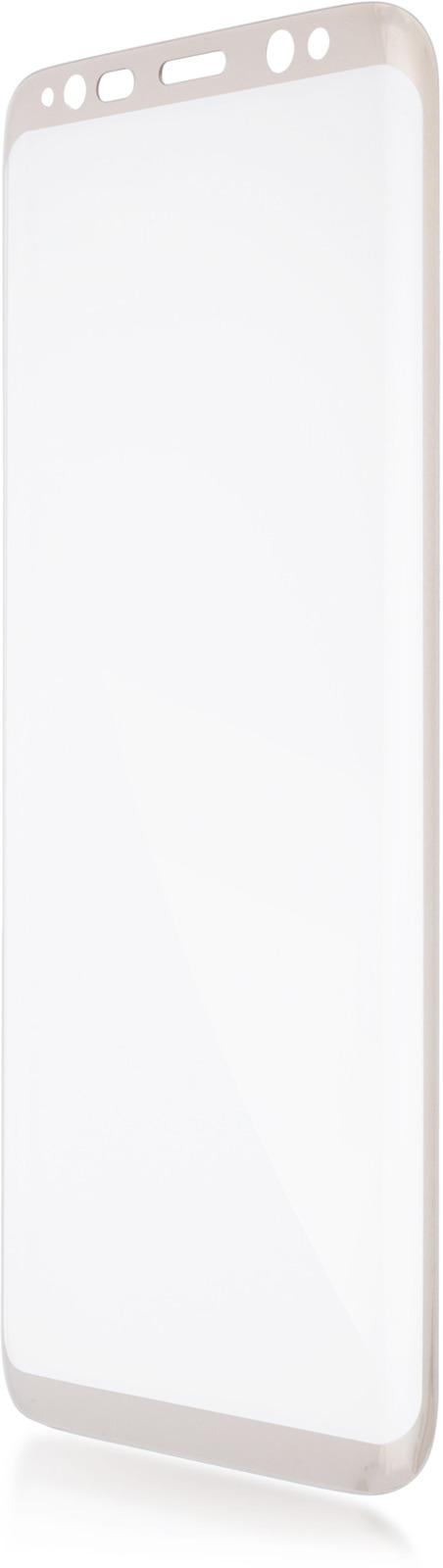 Защитное стекло Brosco 3D для Samsung Galaxy S8 Plus, золотой защитное стекло для samsung galaxy s8 sm g950 onext 3d изогнутое по форме дисплея с прозрачной рамкой