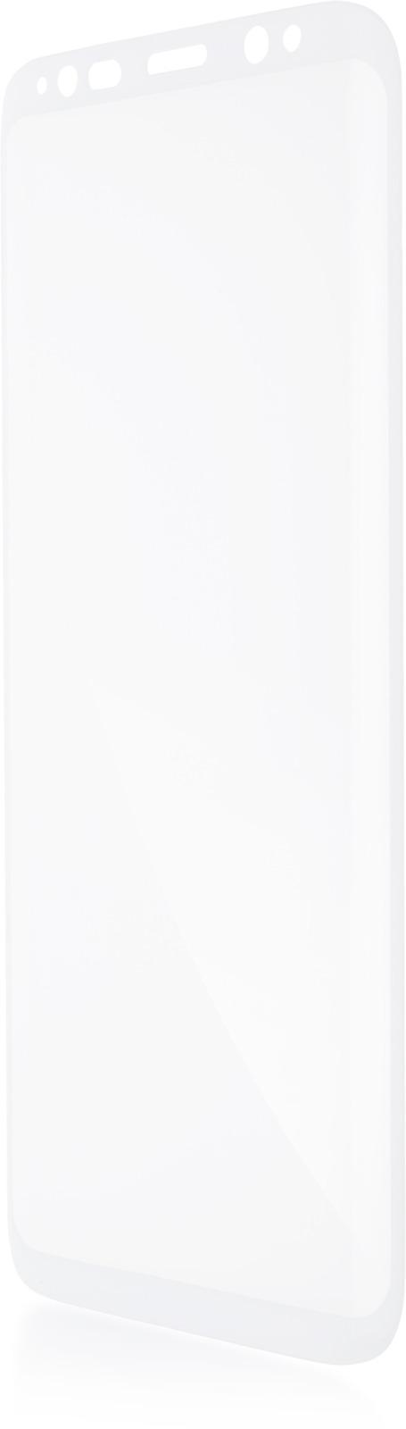 Защитное стекло Brosco 3D для Samsung Galaxy S8 Plus, белый защитное стекло для samsung galaxy s8 sm g950 onext 3d изогнутое по форме дисплея с прозрачной рамкой