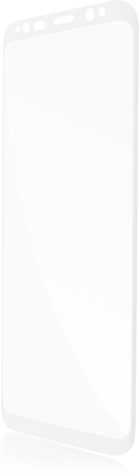 Защитное стекло Brosco 3D для Samsung Galaxy S8, белый защитное стекло для samsung galaxy s8 sm g950 onext 3d изогнутое по форме дисплея с прозрачной рамкой