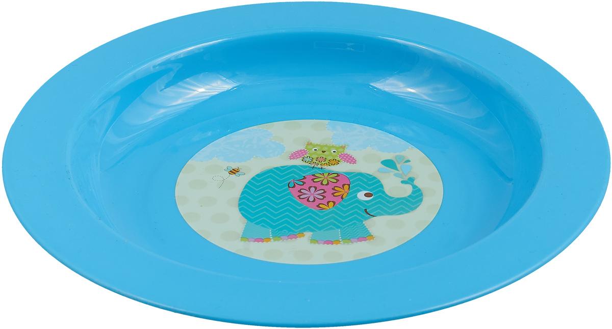 Тарелка детская Мир Детства, для вторых блюд, 17341, голубой