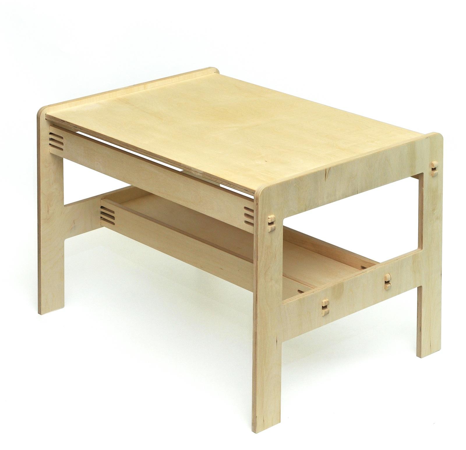 Детский стол Форатойс деревянный, бежевый