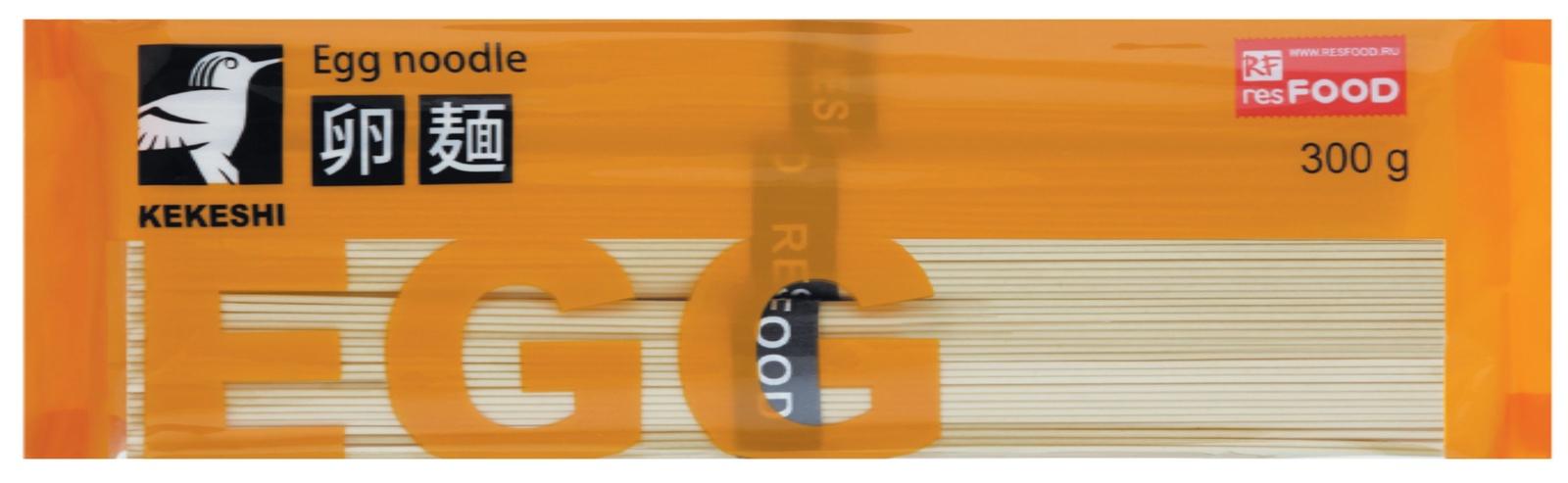 Лапша быстрого приготовления ResFOOD Лапша яичная Kekeshi, 300г, 300