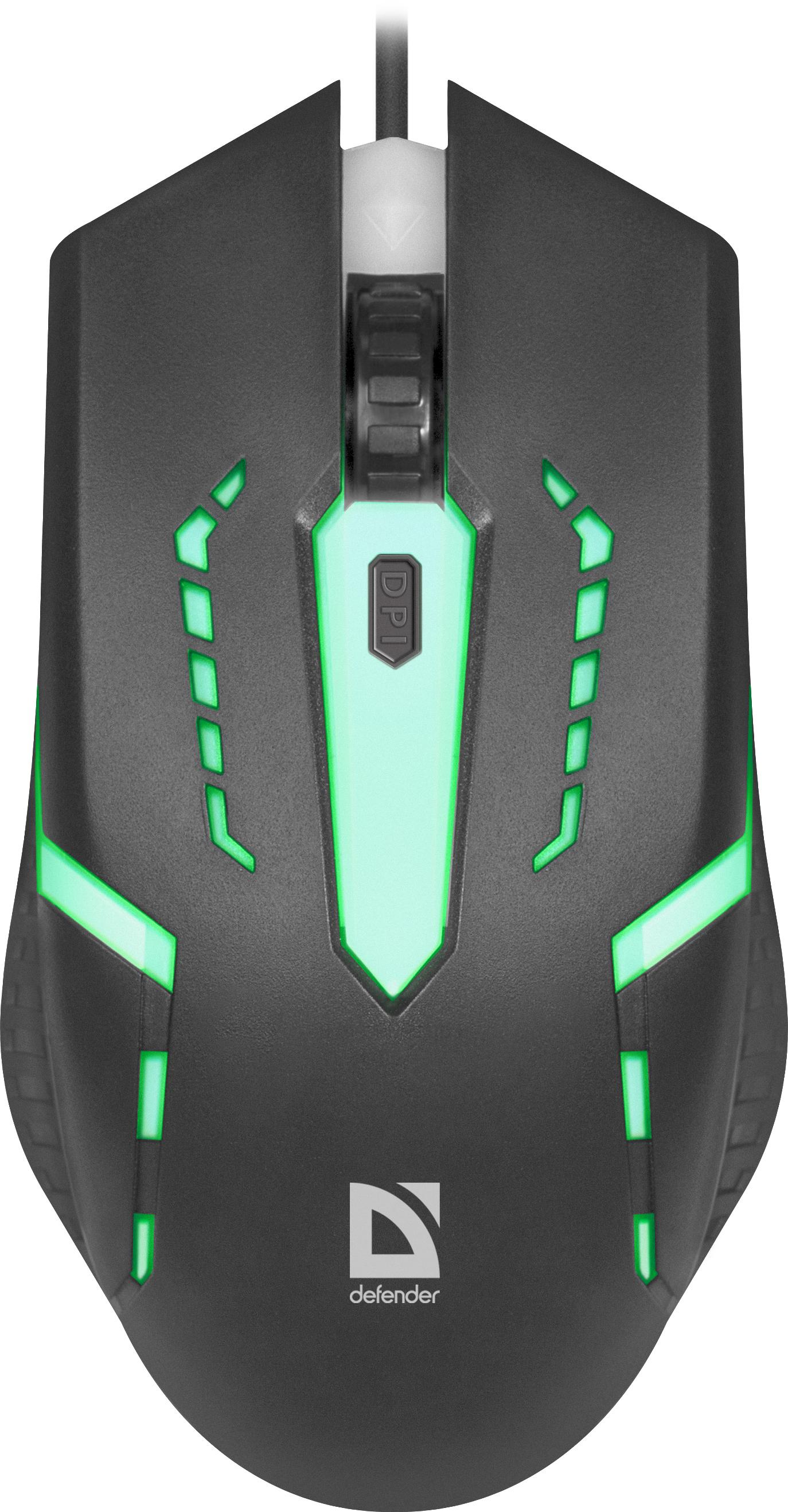 Игровая мышь Defender Hit MB-601, черный