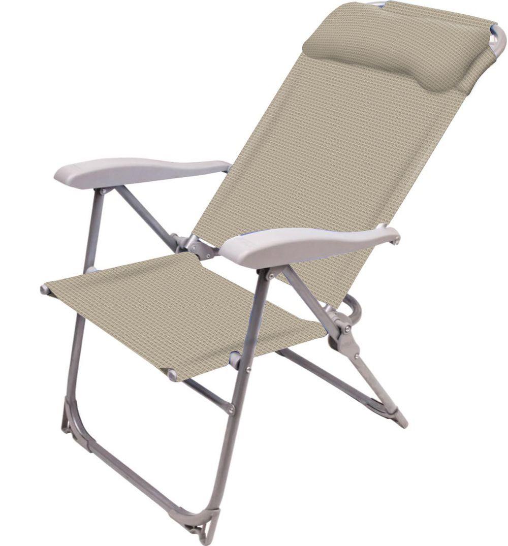Складной стул Ника Кресло-шезлонг, светло-бежевый складной шезлонг для дачи olsa альберто 2