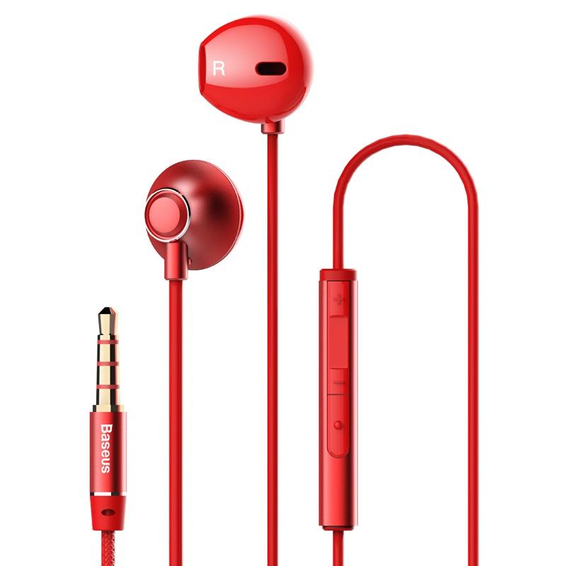 Наушники Baseus NGH06-09, красный baseus encok wire c16 red ngc16 09