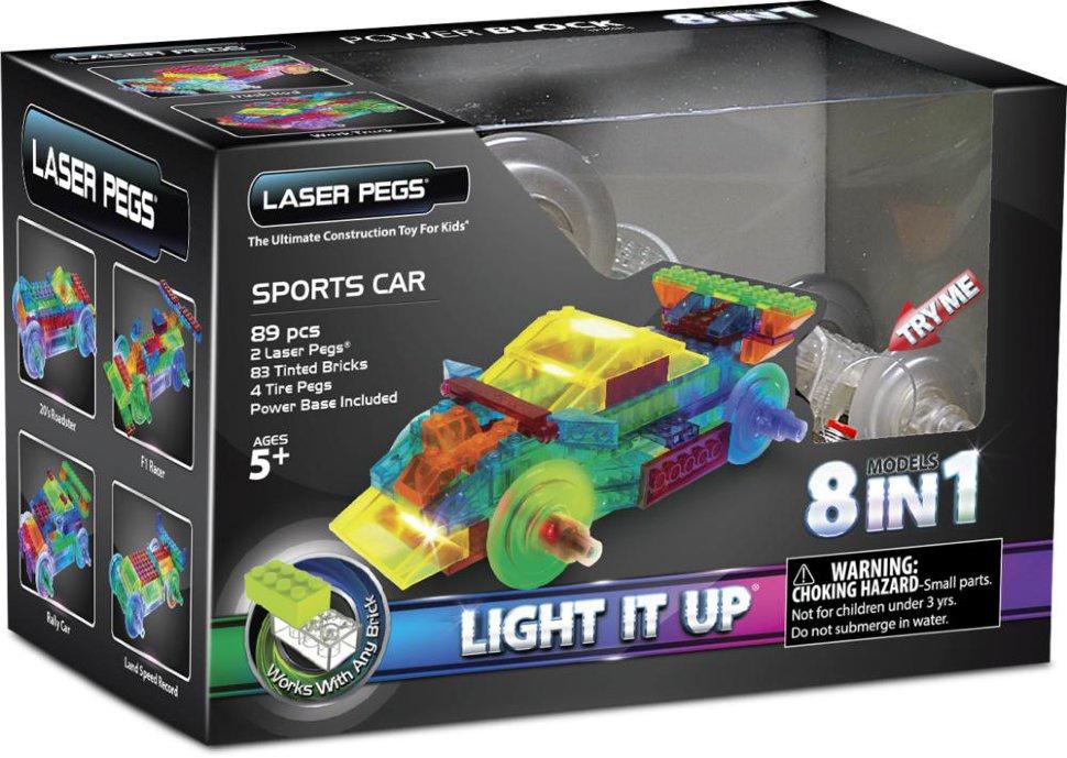 Пластиковый конструктор Laser pegs PB1410B laser pegs светящийся конструктор 4 в 1 laser pegs аэропланы в футляре 39 деталей