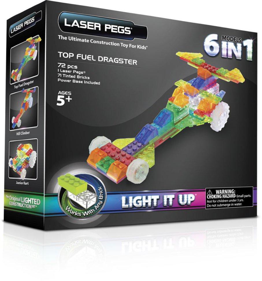 Пластиковый конструктор Laser pegs ZD130B laser pegs светящийся конструктор 4 в 1 laser pegs аэропланы в футляре 39 деталей