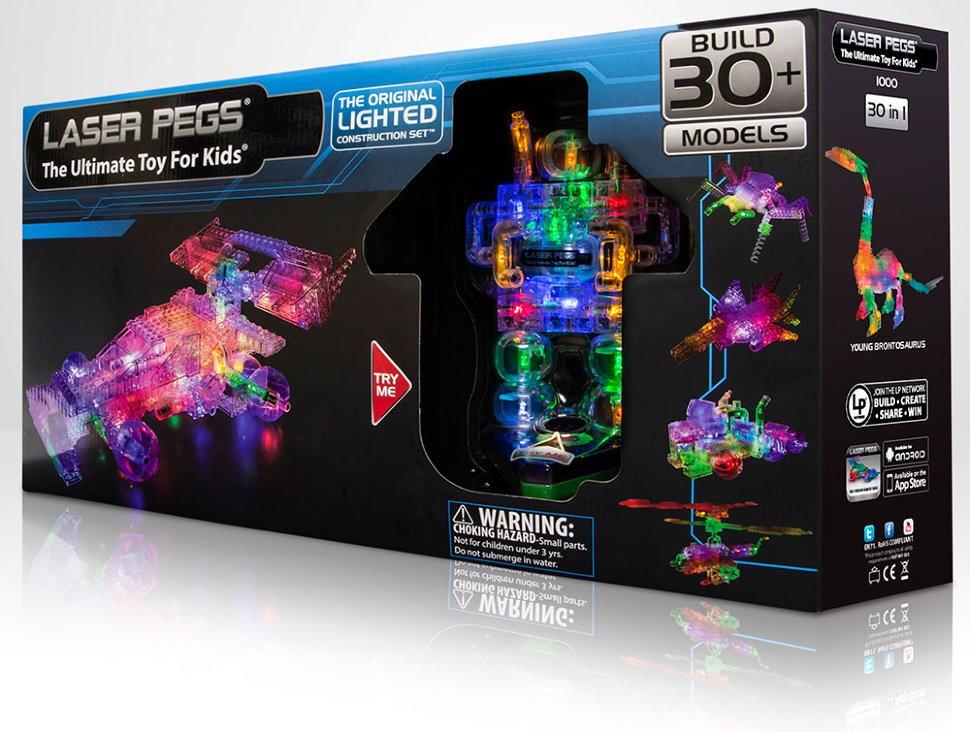 Пластиковый конструктор Laser pegs 1000 конструкторы laser pegs набор 4 в 1 вертолеты в футляре