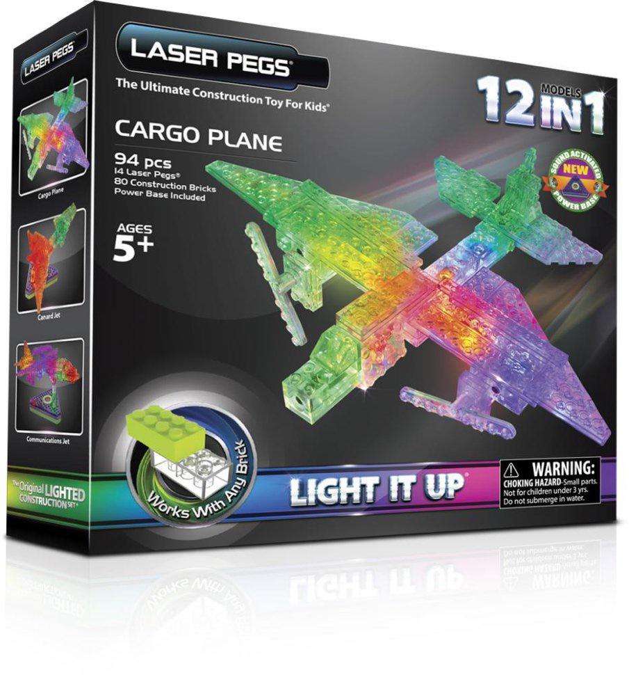Пластиковый конструктор Laser pegs G1670B laser pegs светящийся конструктор 4 в 1 laser pegs аэропланы в футляре 39 деталей