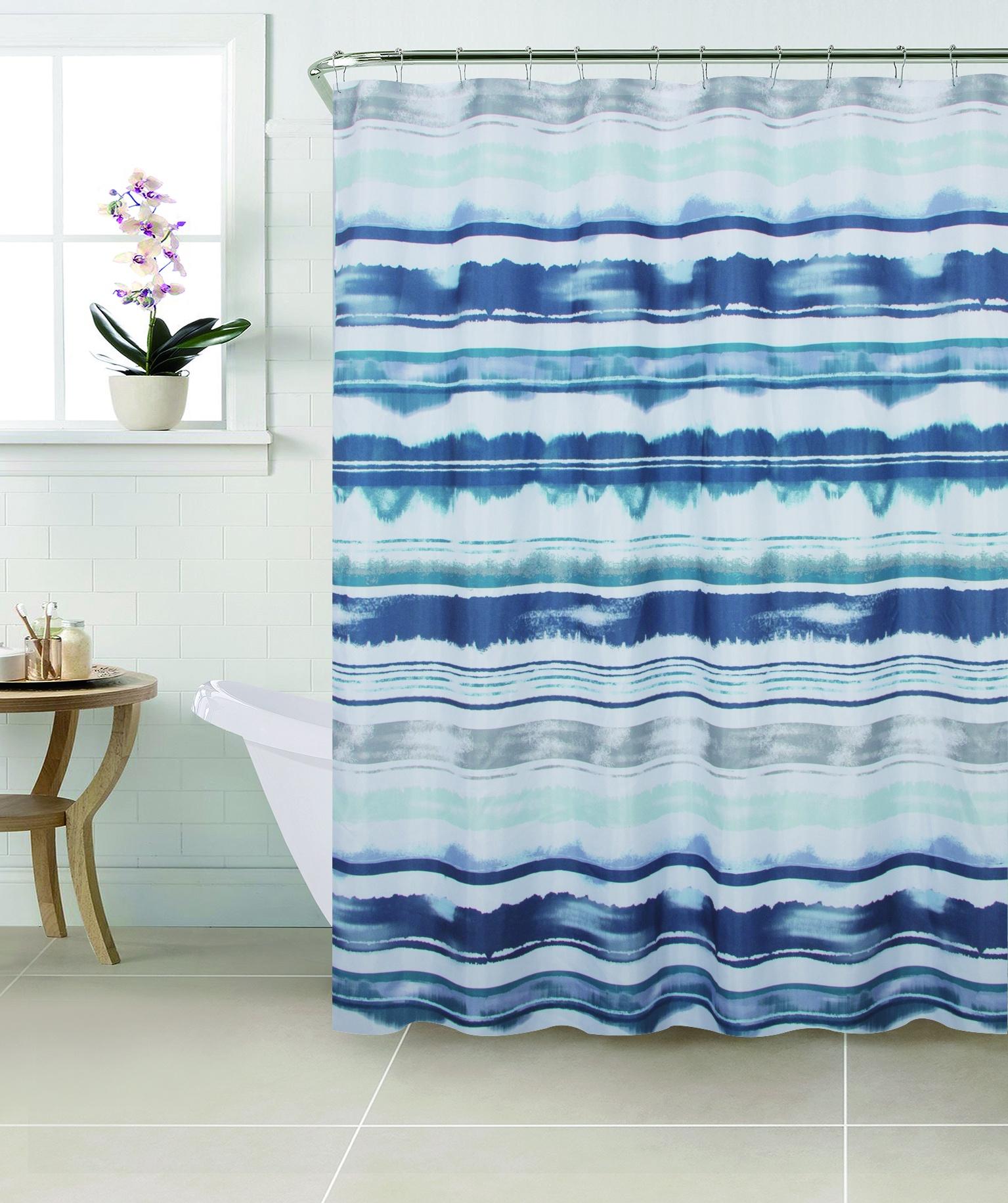 Штора для ванной SWENSA SWC-90-68, синий, зеленыйSWC-90-68