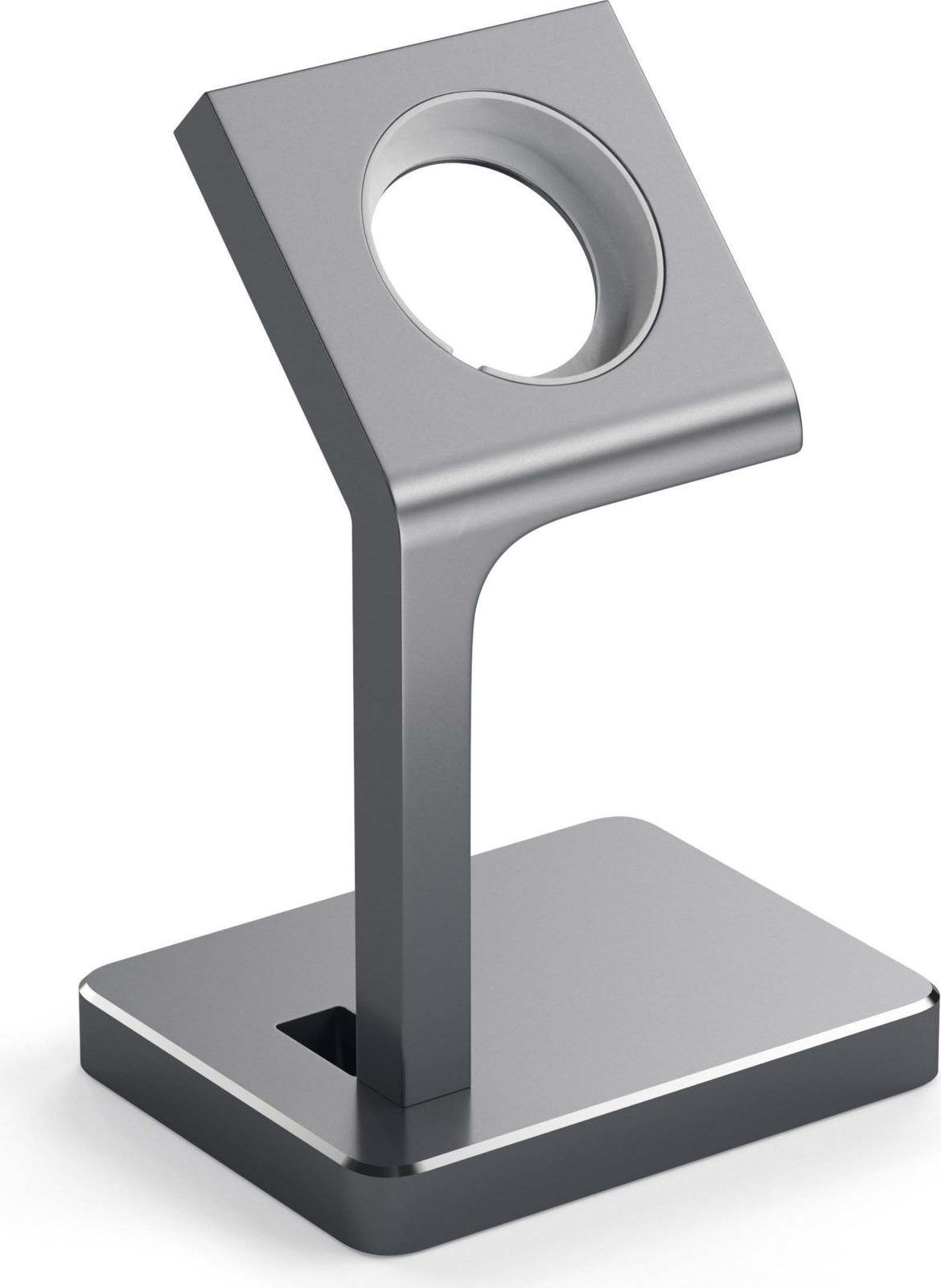 Док-станция Satechi Aluminum Apple Watch Charging Stand для Apple Watch, ST-AWSM, серый satechi aluminum wireless grey st ahpm