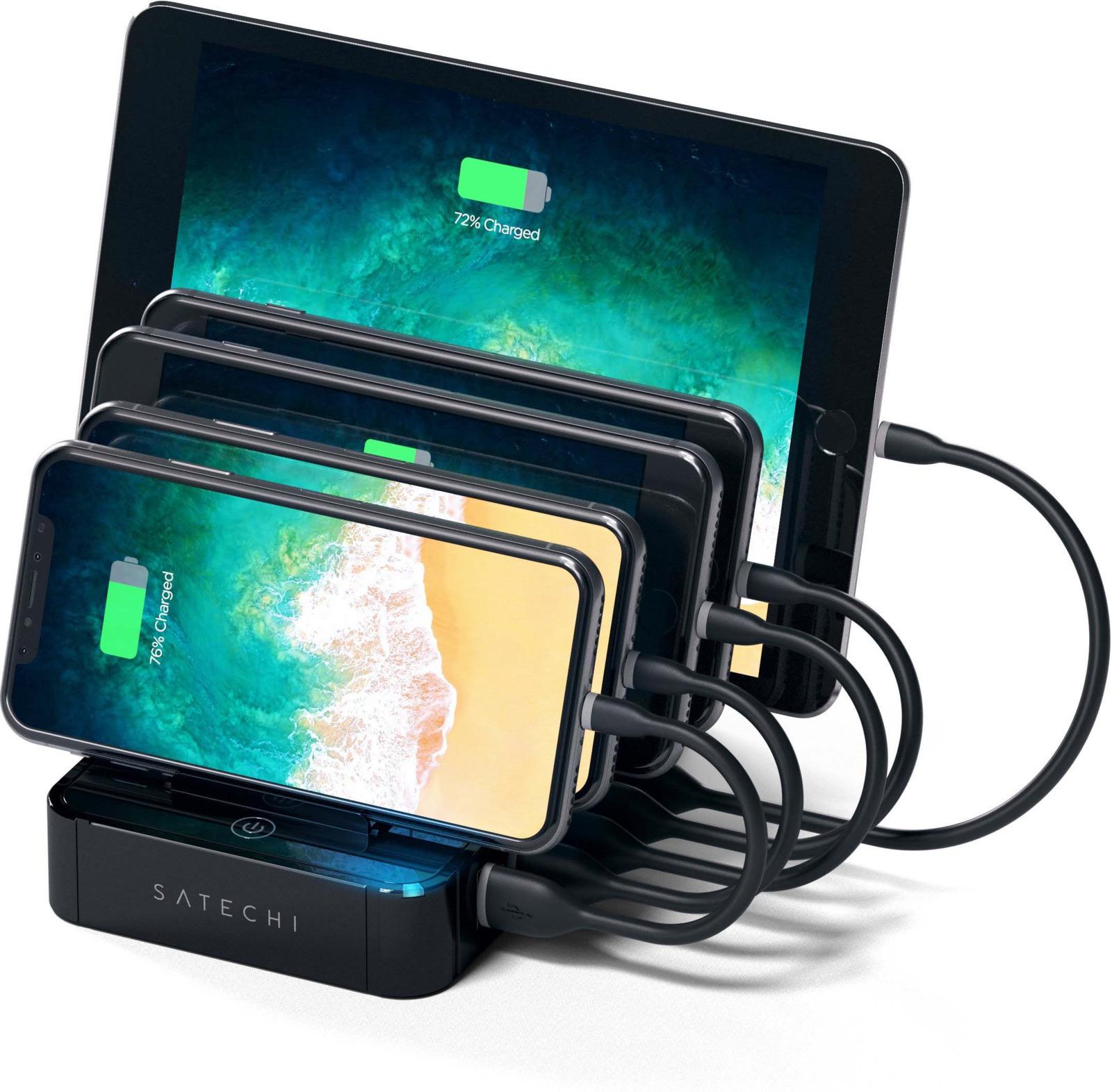 Зарядная док-станция Satechi 5-Port USB Charging Station Dock, ST-MCS5B, черный ikki mini charging dock w data charging cable for lg nexus 5