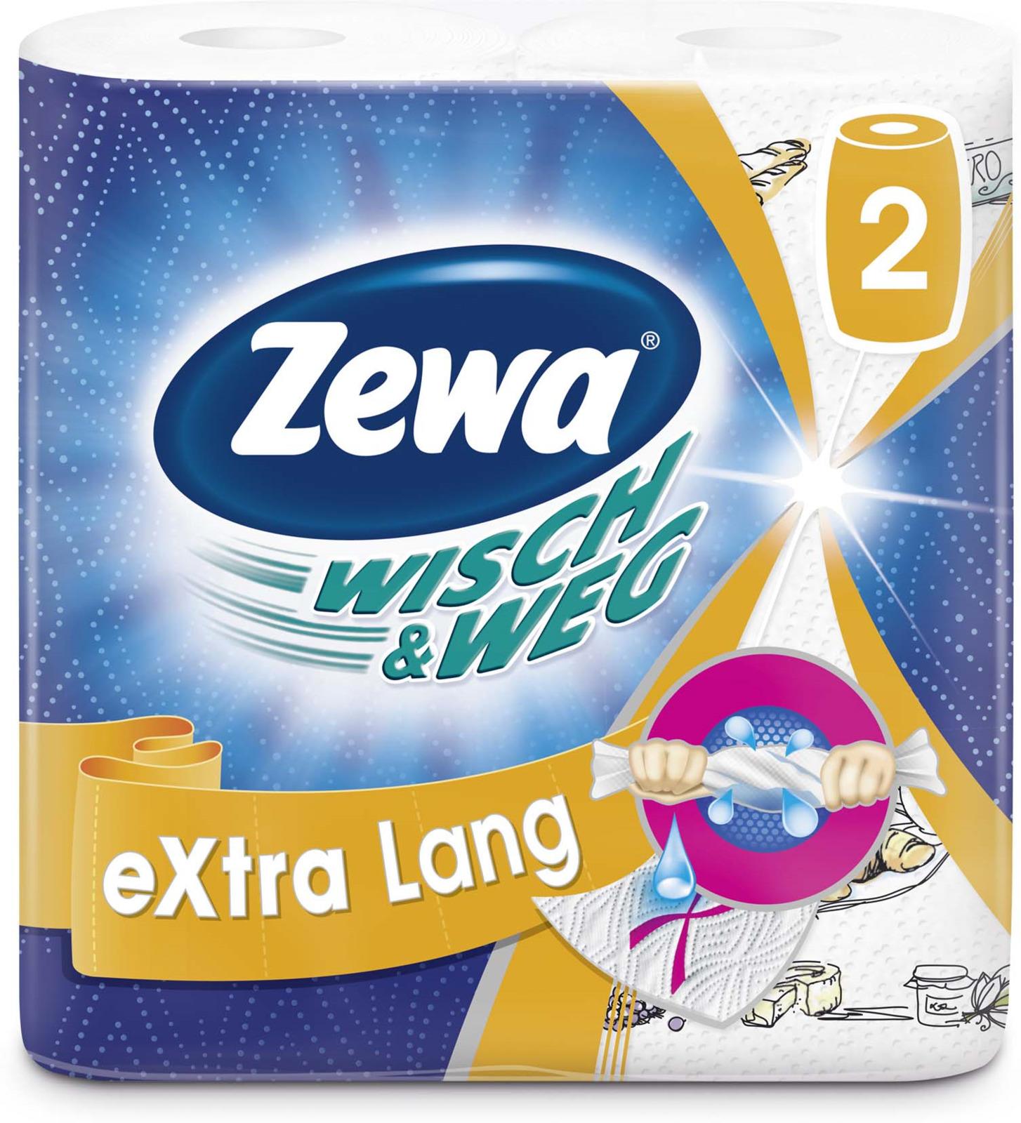 Бумажные полотенца Zewa Wish & Weg, двухслойные, 2 рулона полотенца бумажные мягкий знак двухслойные цвет белый 4 рулона