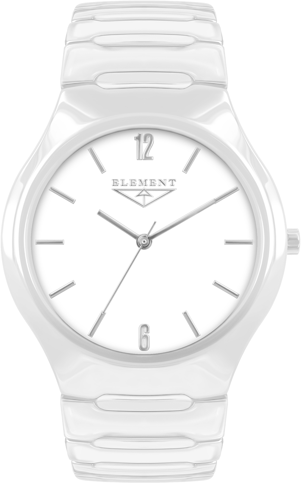 купить Часы 33 ELEMENT 331711C, белый по цене 12500 рублей