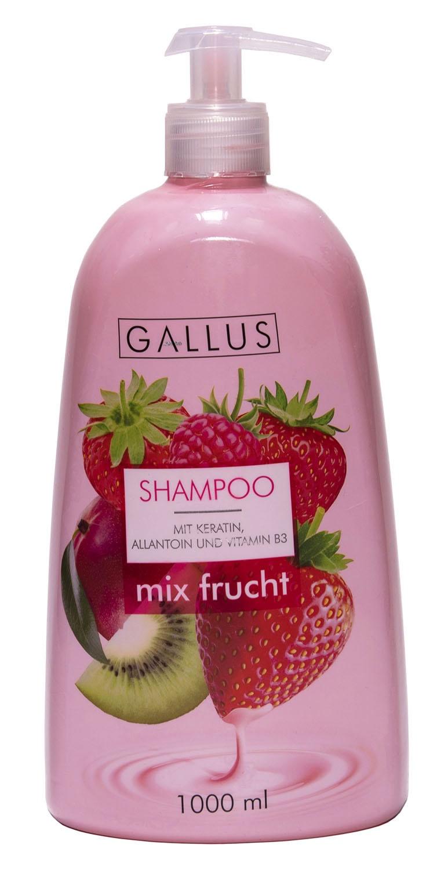 Шампунь для волос Gallus фруктовый микс с кератином шампунь аллантоин